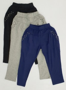 Girl Sweatpants With Elastic Band, 4-12 Years, 3 Colour