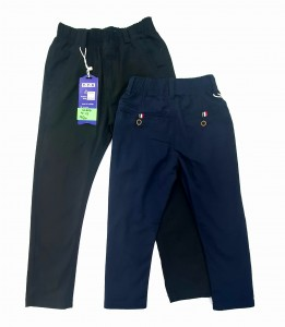 Boys Chinos With Elastic Band, Thiner Material, 4-12 Years, Navy