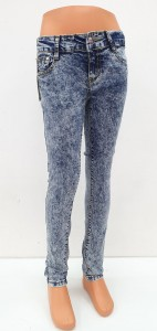 Girl Jeans With Button, 6-14 Years